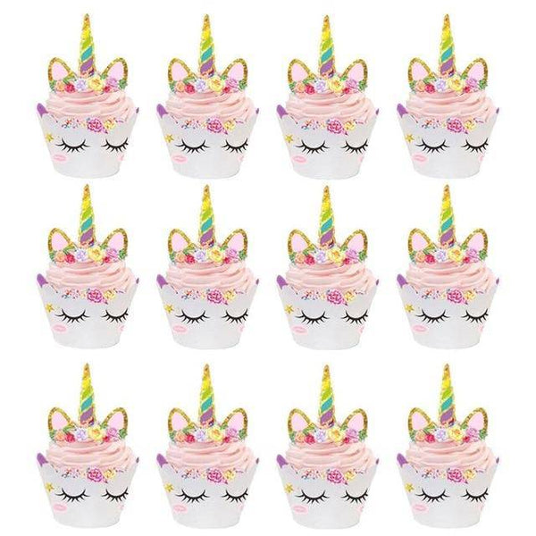 Unicorn Cupcake Wrappers - spreeparty