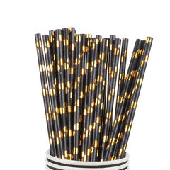 Black Gold Paper Straws