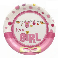 New Baby Shower Girl Plates