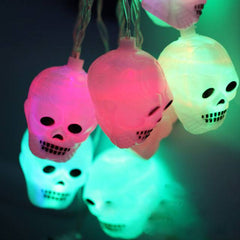 Halloween  Skull Light Colorful
