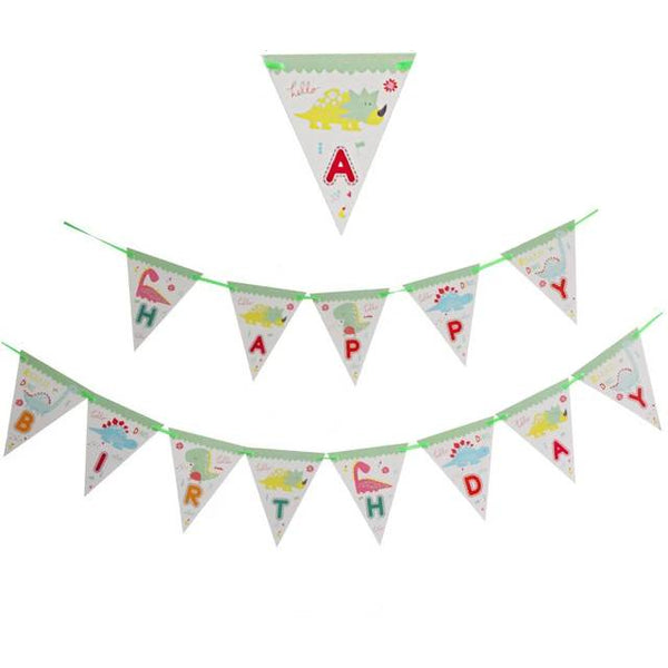 Cartoon Green Dinosaur Banner - spreeparty