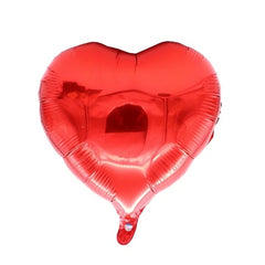 Heart Latex Balloons Silver