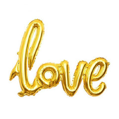 Wedding Love Letter Balloon Gold