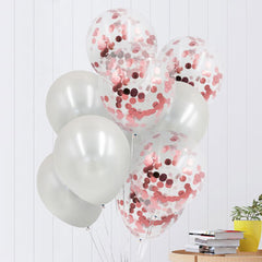 Colorful Latex & Confetti Balloons - 12 inch