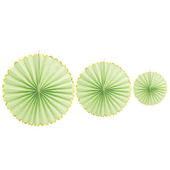Paper Fan Baby Showers Wedding  Party Decoration Green