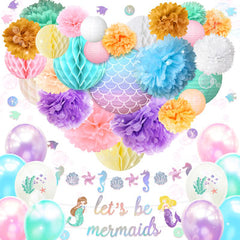 Let's Be Mermaids Party Decoration Kit
