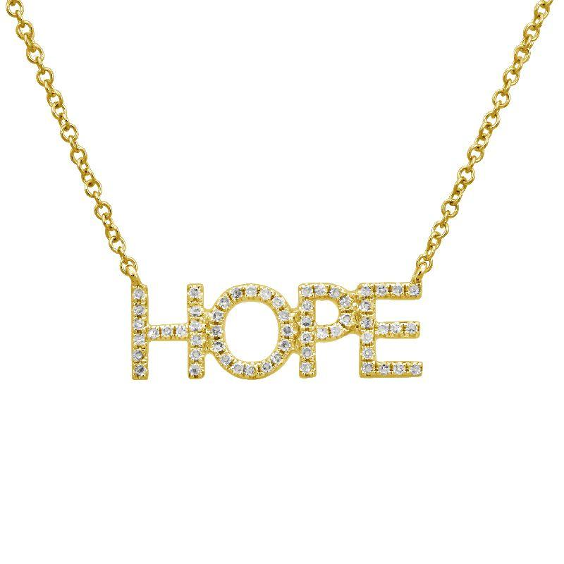 Pave Block HOPE Necklace