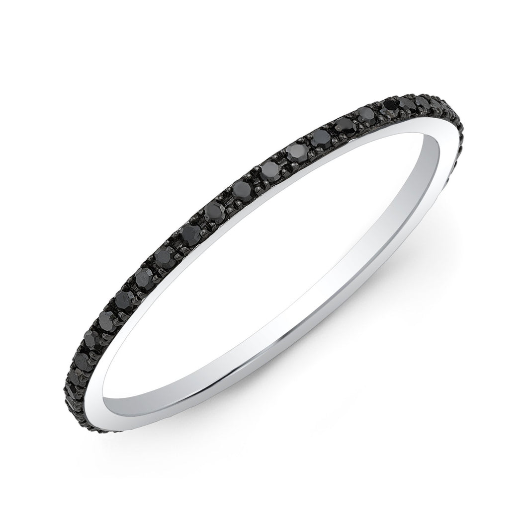 Black Pave Diamond Ring