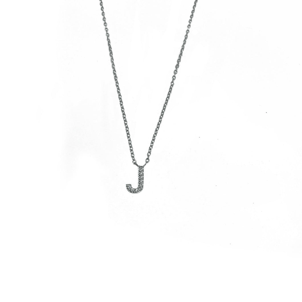 Single Diamond Initial Necklace
