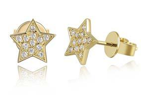 Pave Diamond Star Studs