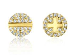 Pave Nail Stud Earrings