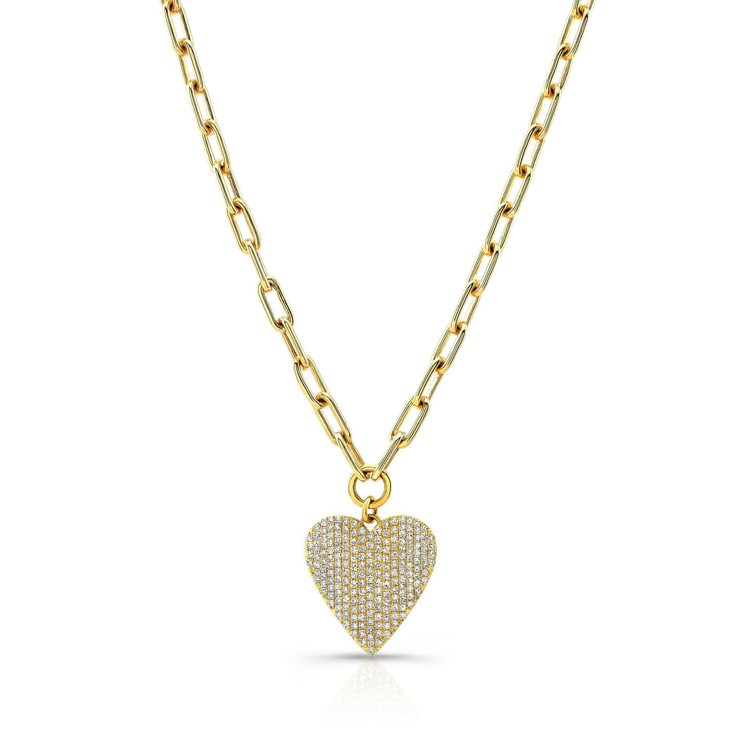 Heart Charm on Link Chain Necklace