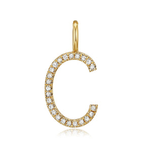 Medium Initial Pave Diamond Pendant