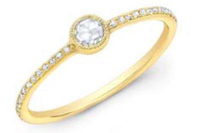 Bezel Diamond on Pave Band