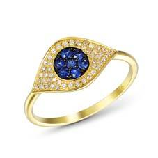 Full Pave Evil Eye Ring