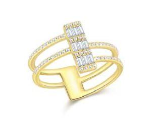 Baguette 4 Layer Ring
