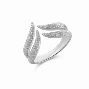 Double Row Claw Ring