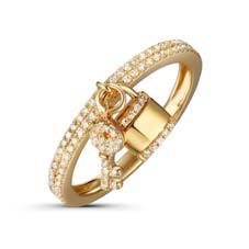 Double Pave Band with Lock & Key