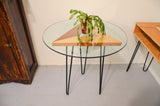Fir, Steel and Glass table