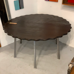 6 Seat Blackened Oak Dining Table