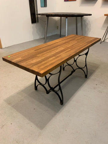 Oak & Cast Iron coffee table