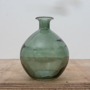 Vase - Glass Bottle Green