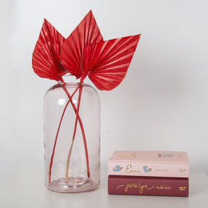 Palm Spears Red Flower Bunch x 5