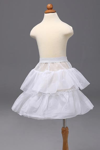 Double Lotus Leaf Flower Girl Dress Petticoat, Children's Short Pettiskirt WP18