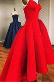 Red Short Graduation Dresses Sweetheart High Low Prom Dress GM69