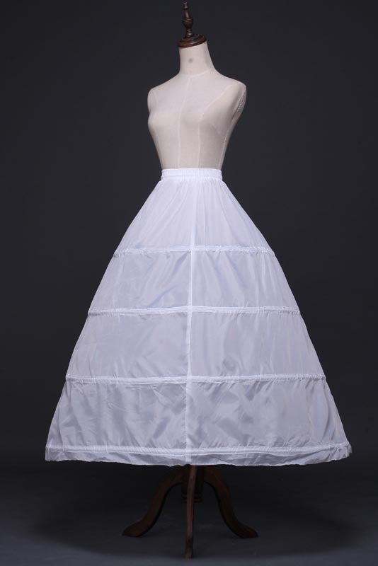 A-Line 4 Tier Floor Length Wedding Slips Petticoats With Elastic Waist WP10