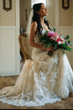 Elegant Sweetheart Mermaid Wedding Dresses With Appliques PW80