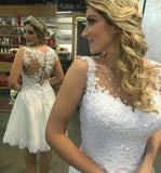 cute short wedding dress lace applique beaded bridal gown pw261