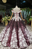 Off-Shoulder Quinceanera Dresses Prom Dresses Ball Gown With 3D Appliques MP91