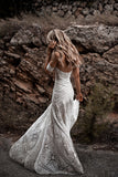 ivory lace country wedding dresses sweetheart beach mermaid bridal gown pw243