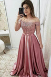 burgundy long prom dresses off the shoulder appliques party dresses mp715