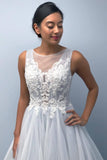 princess tulle wedding dress with lace appliques lace up bridal gown pw225