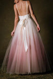 elegant a line ombre prom wedding dress, low back long evening gown mp1170