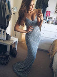 spaghetti straps long beading mermaid backless prom dresses mp969
