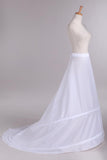 Special White Two Layers Wedding Dress Petticoat With Train WP23