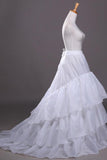 White Three Layers Lotus Leaf Bride Wedding Dress Petticoat With Train WP22
