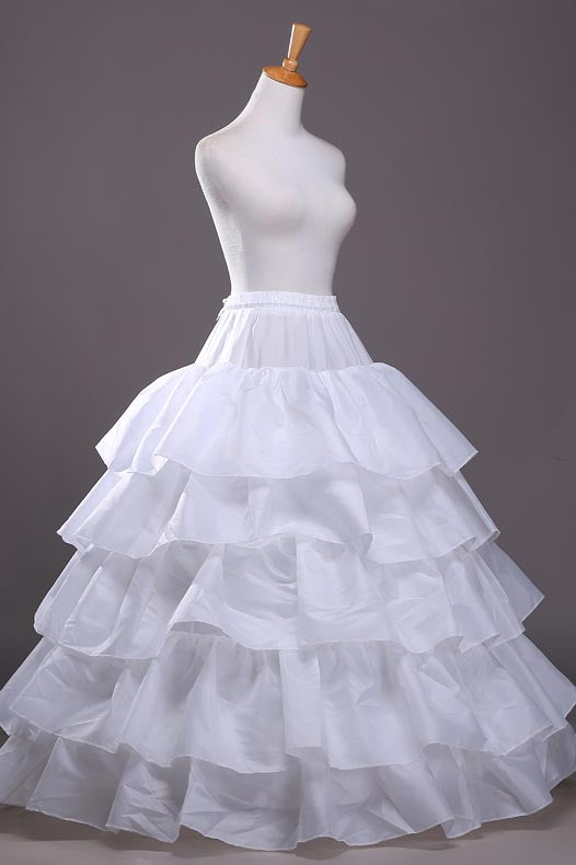 New Five Lotus Leaf Ball Gown Wedding Dress Pettiskirt, White Wedding Dress Petticoat WP20