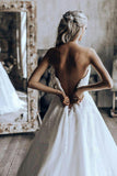 Princess Strapless Ball Gown Wedding Dress With Appliques PW206