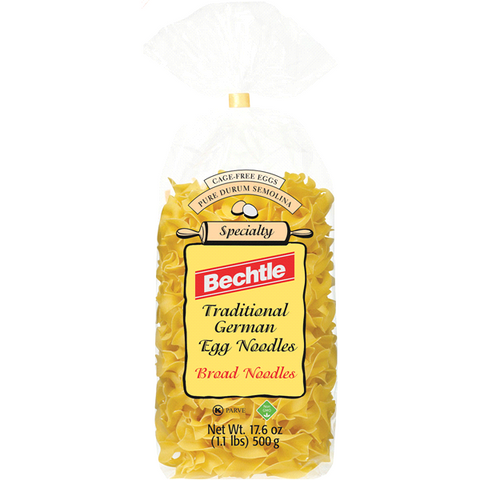 Bechtle Traditional German Egg Noodles Broad Noodles 17.6 oz