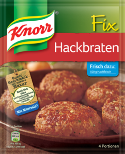Knorr Fix Hackbraten (Hamburger Mix) Product of Germany 2.75 oz