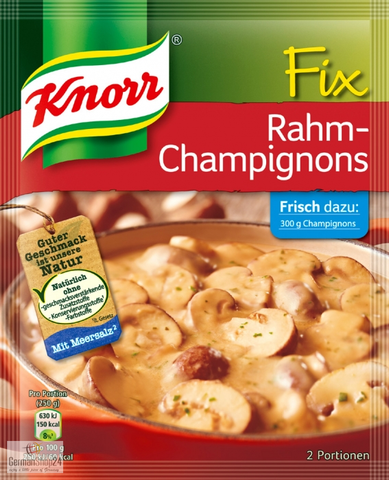 Knorr Fix Rahm-Champignons (Creamy Mushrooms) Product of Germany 300 g