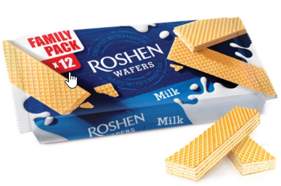 Roshen Wafers Milk Flavor Family Pack x 12