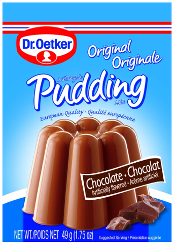 Dr.Oetker Original Pudding Chocolate Artificially Flavored Product of Canada 1.75 oz