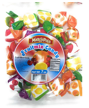 Marco Polo Mixed Fruit Filled Hard Candy Product of Turkey 7 oz