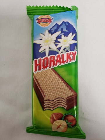 Sedita Horalky (Crispy Wafer with Milk Filling and Cocoa Coating) Chocolate Bar Product of Slovakia 50 g