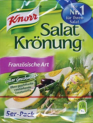 Knorr Salat Kronung Franzosische Art (French Dressing) Product of Germany 5 per-pack